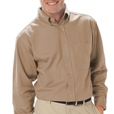 Men's Tall Long Sleeve Easy Care Poplin With Matching Buttons Main Image