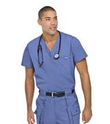 Men's Vented Scrub Top Main Image