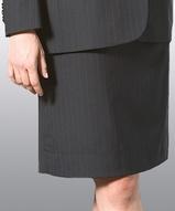 Misses Pinstripe Suit Skirt Main Image