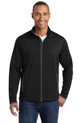Sport-Wick Stretch Contrast Full-Zip Jacket Main Image