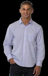 Mens Long Sleeve Untucked Stripe Shirt Main Image