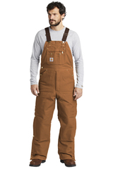 Duck Quilt-Lined Zip-To-Thigh Bib Overalls Main Image