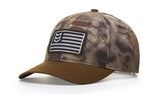 Richardson Camo Crown With Duck Cloth Visor Cap Main Image