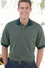 Performance Knit Twill Polo Golf Shirt With Pocket Main Image