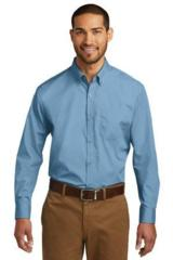 Port Authority Long Sleeve Carefree Poplin Shirt Main Image