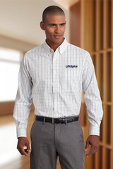 Port Authority Tall Tattersall Easy Care Shirt Main Image