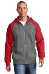 Raglan Colorblock Full-Zip Hooded Fleece Jacket Main Image