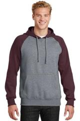 Raglan Colorblock Pullover Hooded Sweatshirt Main Image