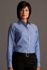 Greg Norman Women's Easy-care Dobby Woven Long Sleeve Dress Shirt Main Image