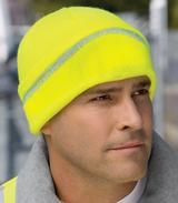Safety Beanie With Reflective Stripe Main Image