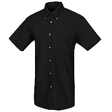 Short Sleeve Button Down Poplin Shirt With Pocket Main Image