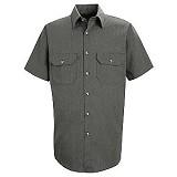 Short Sleeve Heathered Poplin Shirt Main Image