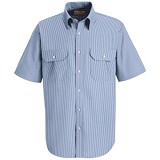 Short Sleeve Striped Dress Uniform Shirt Main Image