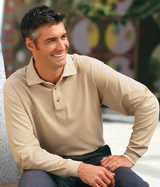 Silk Touch Long Sleeve Polo Shirt Main Image