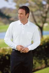 Silk Touch Long Sleeve Polo Shirt With Pocket Main Image
