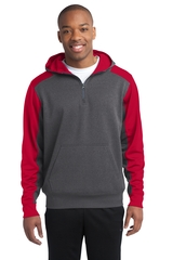 Sport-tek Colorblock Tech Fleece 1/4-zip Hooded Sweatshirt Main Image