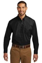 Tall Long Sleeve Carefree Poplin Shirt Main Image
