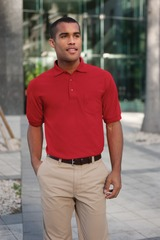 Tall Sized Silk Touch Polo Shirt Main Image