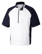 Men's Cutter & Buck WeatherTec Short Sleeve Summit 1/2-Zip Main Image