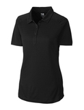 Women's Cutter & Buck DryTec Northgate Polo Shirt Black Thumbnail