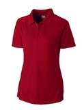 Women's Cutter & Buck DryTec Northgate Polo Shirt Cardinal Red Thumbnail