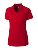 Women's Cutter & Buck DryTec Northgate Polo Shirt Red Thumbnail