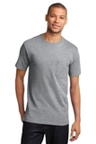 100 Cotton T-shirt With Pocket Athletic Heather Thumbnail