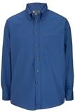 Men's Button Down Poplin Shirt LS French Blue Thumbnail