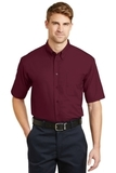 Short Sleeve Superpro Twill Shirt Burgundy Thumbnail