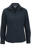 Women's Easy Care Poplin Shirt LS Navy Thumbnail