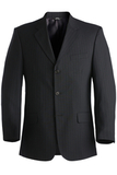 Men's Poly / Wool Pinstrip Suit Coat Navy Thumbnail