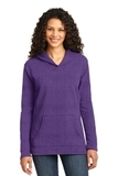 Women's French Terry Pullover Hooded Sweatshirt Heather Purple Thumbnail