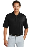 Nike Golf Dri-FIT Cross-over Texture Polo Shirt Black Thumbnail