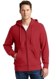 Super Heavyweight Full-zip Hooded Sweatshirt Red Thumbnail