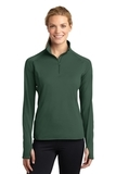 Women's Stretch 1/2-zip Pullover Forest Green Thumbnail
