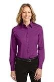 Women's Long Sleeve Easy Care Shirt Deep Berry Thumbnail