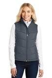 Women's Puffy Vest Dark Slate with Black Thumbnail