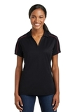 Women's Micropique Sport-wick Piped Polo Black with True Red Thumbnail
