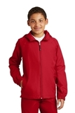 Youth Hooded Raglan Jacket True Red Thumbnail