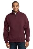 1/4-zip Cadet Collar Sweatshirt Maroon Thumbnail