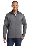 Sport-Wick Stretch Contrast Full-Zip Jacket Charcoal Grey Heather with True Navy Thumbnail