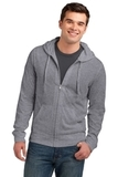 Young Men's Lightweight Jersey Full-zip Hoodie Dark Heather Grey Thumbnail
