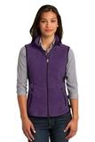 Women's Port Authority R-tek Pro Fleece Full-zip Vest Purple Heather with Black Thumbnail