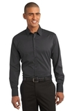 Stretch Poplin Shirt Grey Smoke Thumbnail