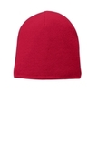 Fleece-Lined Beanie Cap Athletic Red Thumbnail