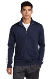 Tricot Track Jacket True Navy with White Thumbnail