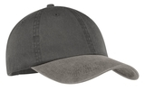 2-tone Pigment-dyed Cap Black with Pebble Thumbnail