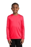 Youth Long Sleeve Competitor Tee Hot Coral Thumbnail
