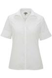 Women's Easy Care Poplin Shirt SS White Thumbnail