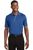 Dri-mesh Polo Shirt With Tipped Collar And Piping Royal with White Thumbnail